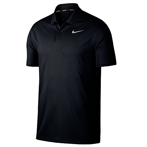 ry Polo Solid Left Chest, Black/Cool Grey, Large ()