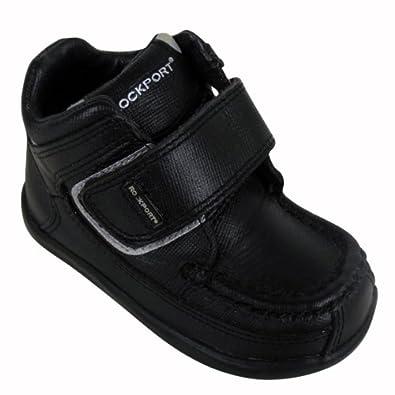 Boys Kids Rockport Black Toddler Mweka Leather Infants Shoes Boots Size UK  4.5