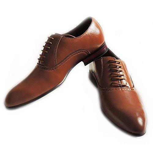 Nouveau Ferro Aldo Mode Hommes En Cuir Doublé Lace Up Oxfords Aile Pointe Robe Chaussures-mfa19372 Marron