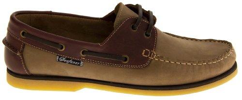 Footwear Studio - Náuticos para hombre marrón marrón marrón claro/marrón oscuro (Tan & Brown)
