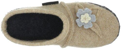 Nanga Flora 05-0089 - Pantuflas de fieltro para mujer Beige