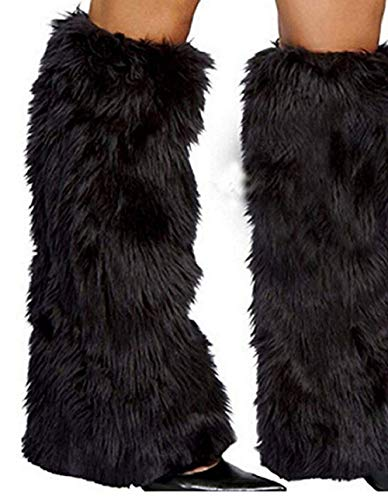 - Hankyky 3Color Sexy Faux Fur Leg Warmers Rave Fluffies Lady Boot Cover Santa Christmas