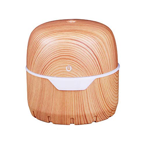 MNSSRN Light Wood Grain Treasure Box Humidifier, Mute USB Purifying Air Moisturizing Hydrating Skin, Colorful Night Light Home Office