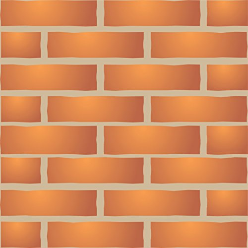 """Brick Wall Stencil (size 13""""w x 8.5""""h) Reusable Wall Stencils for Painting - Best Quality Brick Wall Stencil Ideas - Use on Walls, Floors, Fabrics, Glass, Wood, Terracotta, and More… ()"""