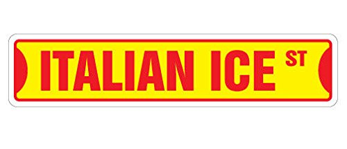 Cortan360 ITALIAN ICE Street Sign store shaved icee snow cone| Indoor/Outdoor | 8
