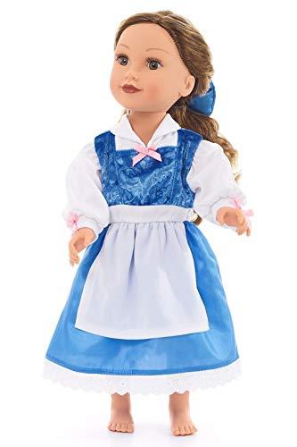 Little Adventures Beauty Day Princess Doll Dress Blue]()