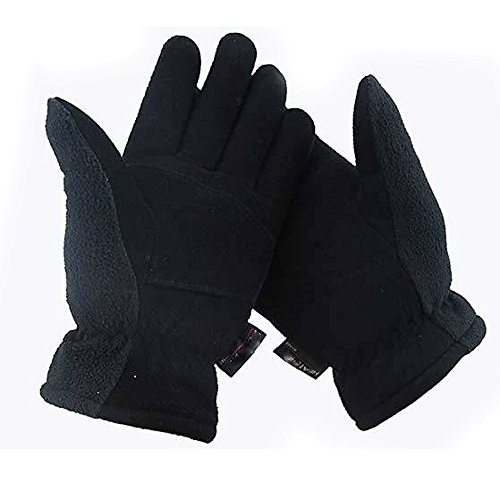 Genuine Winter Cycling Gloves Deerskin Palm Outdoor Sports Warm Unisex ()