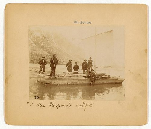HistoricalFindings Photo: The Shepards outfit,scow,Yukon -
