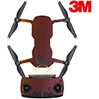 SopiGuard 3M Flip Volcanic Flare Precision Edge-to-Edge Coverage Vinyl Sticker Skin Controller 3 x Battery Wraps for DJI Mavic Air