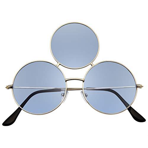 Emblem Eyewear – Third Eye Sunglasses Triple Round Circle Sunglasses