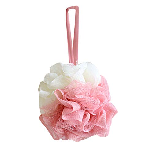Weiliru Loofah Bath Shower Sponge Pouf Mesh Ball Exfoliating Premium Scrubber Bath Ball]()