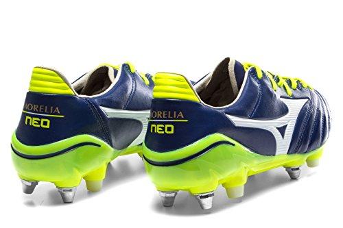 Morelia Neo II Mix SG Football Boots - Blue Print/White/Safety Yellow Blue s5ypYWFs