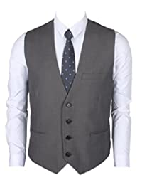 Ruth&Boaz Men's 3Pockets 4Button Business Suit Vest