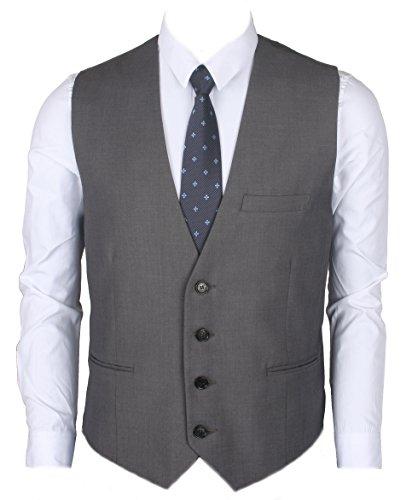 Gray Mens Vest - 4