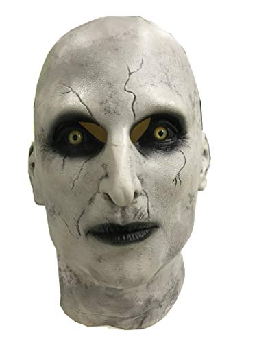 Valak Mask The Nun Helmet Latex Scary Full Head Halloween Cosplay Costume Accessory Prop -