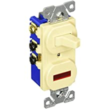 Eaton 294V 15 Amp 120V Combination 3-Way Switch & Pilot Light, Ivory