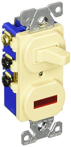 Eaton 294V 15 Amp 120V Combination 3-Way Switch & Pilot Light, Ivory
