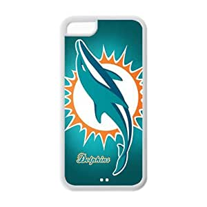 WY-Supplier Funny Fashion New Ultra clear color high-definition image NFL Miami Dolphins phone case, Miami Dolphins Apple iphone 5c Faceplate Hard Back Protector Case Snap On Cover TPU case
