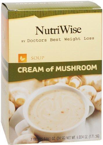NutriWise - Cream of Mushroom High Protein Diet Soup (7/box) by NutriWise by NutriWise