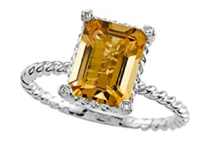 Genuine Citrine 9x7mm Ring by Effy Collection 14kt Size 7