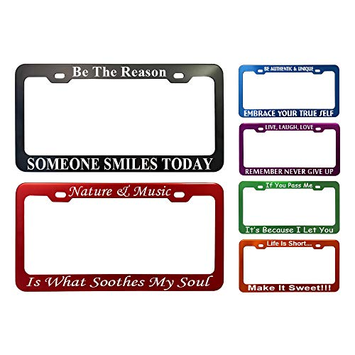 GoPlates Customized Heavy Duty License Plate Frame Laser Engraved