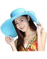 Kaisifei Bowknot Casual Straw Women Summer Hats Big Wide Brim Beach Hat