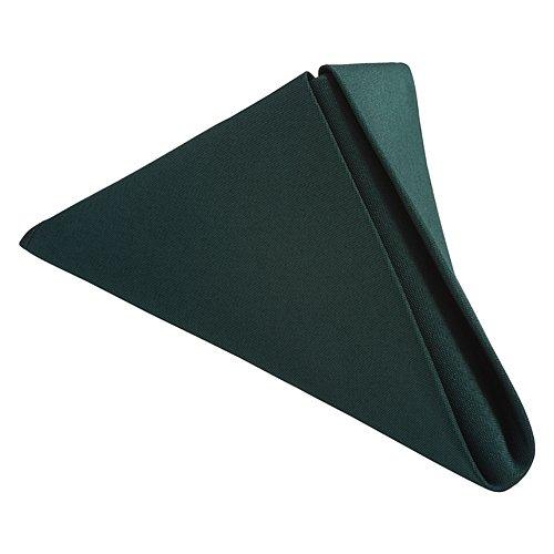 LinenTablecloth 17-Inch Polyester Napkins (1-Dozen) Hunter Green