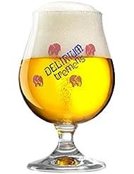 Delirium Tremens Belgian Chalice/Goblet Beer Glass 0.25L   Set Of 2