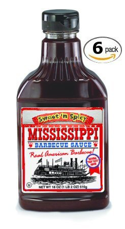 Mississippi Bbq Sauce - Mississippi BBQ BBQ Sauce, Sweet 'n Spicy, 18-Ounce (Pack of 6)