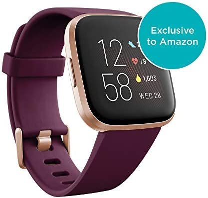 Fitbit Versa 2 Health & Fitness Smartwatch - Bordeaux/Coppper Rose