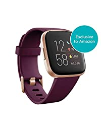 Fitbit Smartwatch Fitbit Versa 2 Compatible Con Alexa (exclsuivo De Amazon), color Rosa Bordeaux, Unico, pack of/paquete de