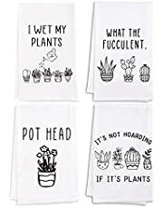 Vastsea Plant Lover Gifts for Women-Funny Kitchen Towels Dish,I Wet My Plants Gifts Hand Towels with Saying,Funny Succulent Gifts,Housewarming Gifts for Gardener Women Crazy Plant Lady Accessories