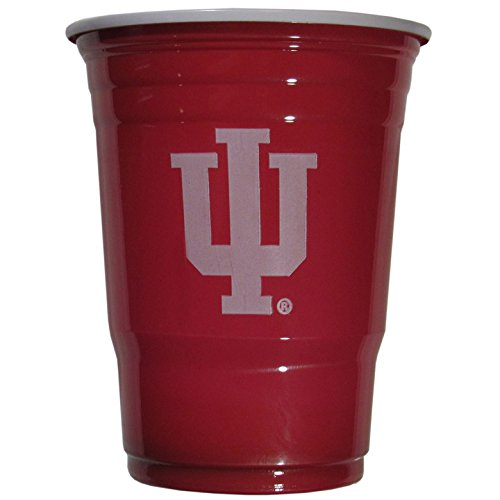 NCAA Plastic Game Day Cups, Indiana Hoosiers,18-Ounce, Sleeve of 18 cups]()