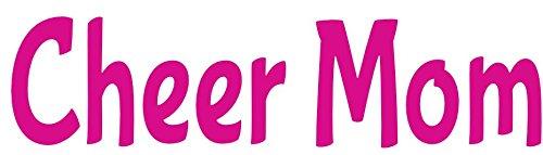 Perfect Cheerleading Mom Gift WickedGoodz Pink Cheer Mom Vinyl Decal Transfer Cheerleader Bumper Sticker