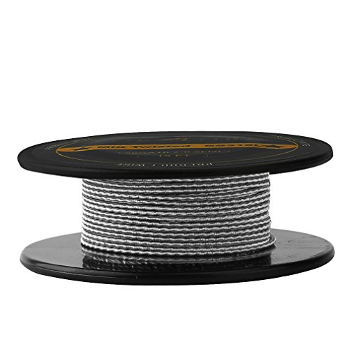 FogsLord Fused Clapton Wire SS316L Heat Resistance Wire Spool Braided Electronic Coil 15 ft. AWG 28GAx2+32GA by FogsLord (Image #2)