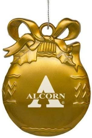 Gold Pewter Christmas Tree Ornament Alcorn State University