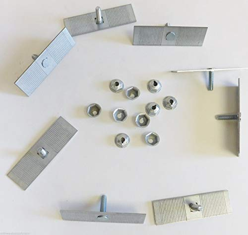 Online Auto Supply 10 Pontiac Body Side Moulding Fasteners 2-1/2 x 3/4 Perforated Clips Bolts Nuts ()