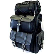 """Vance Leather VS348 Motorcycle Sissy Bar Bags/Travel Luggage - 30"""" L x 16"""" W x 11"""" H, Large"""