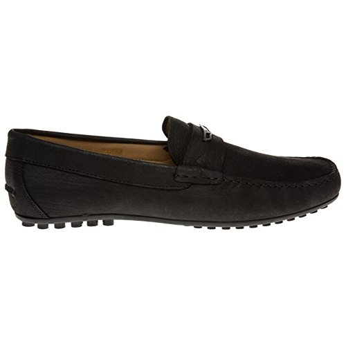 Emporio Armani - Mocasines de cuero para hombre negro negro, color negro, talla 40.5: Amazon.es: Zapatos y complementos