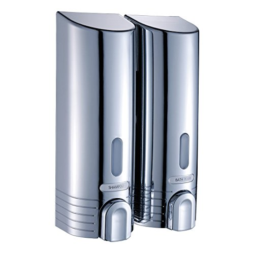 Fapully Two Chamber Shower Shampoo Dispenser, Chrome by Fapully