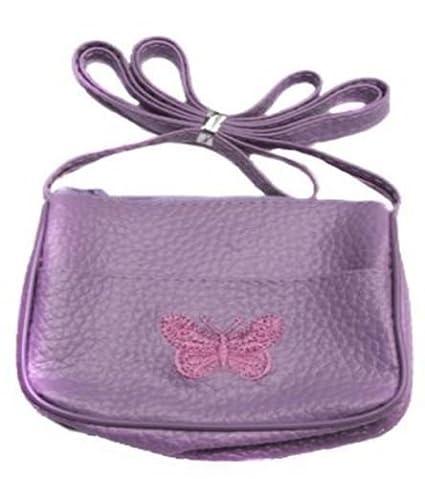 176b6f5ba GIRLS SMALLS PVC BUTTERFLY PURSE HANDBAG 3 COLOURS APPROX.8 X 10CM SHOULDER  BAG (Lilac): Amazon.co.uk: Toys & Games