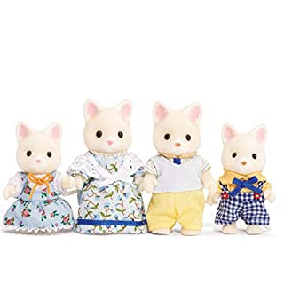 Calico Critters, Silk Cat Family, Dolls, Dollhouse Figures, Collectible Toys