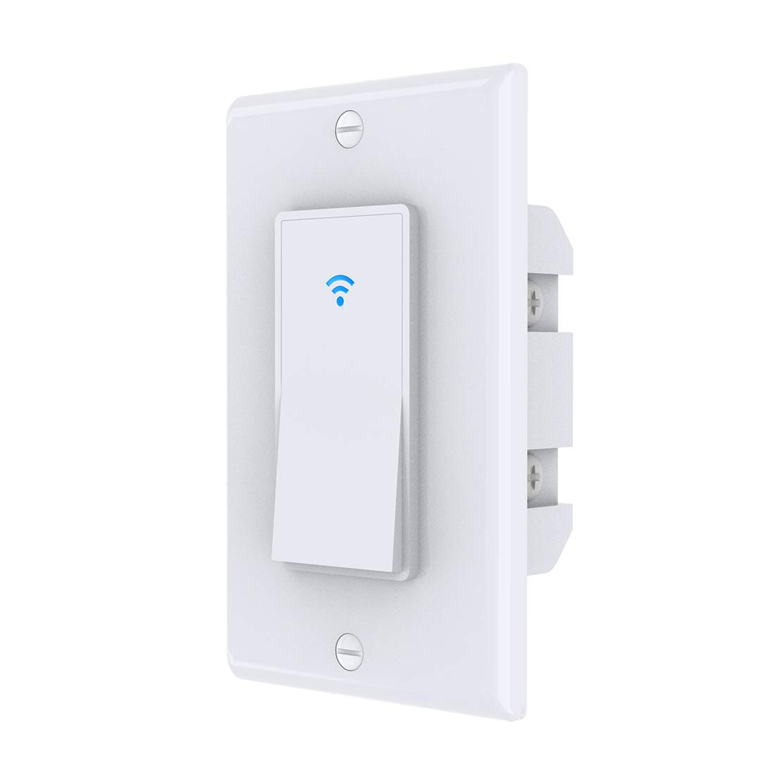 Zigbee Switch,Inle Smart Light Switch,with Alexa/Google Assistant and IFTTT,Remote Control and Timer,Requires zigbee Hub,Neutral Wire Required,10A 100-240V(White)