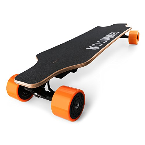 Koowheel Electric Skateboard Updated Version Dual Brushless Hub Motor 5500mAh Battery With Bag and 2 Remote Control Orange