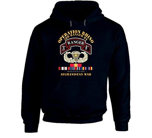 2XLARGE - Sof - Operation Rhino - Afghanistan - 3rd Ranger Bn W Svc Hoodie - Navy ()