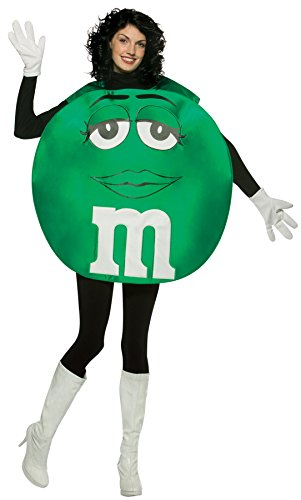 Adult Poncho Green M & M's Costumes (UHC Unisex M&M's Green Poncho Funny Comical Theme Party Adult Halloween Costume, OS)