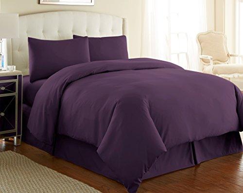 (Southshore Fine Linens 2 Piece - Oversized Duvet Cover Set (Twin/Twin XL, Purple))
