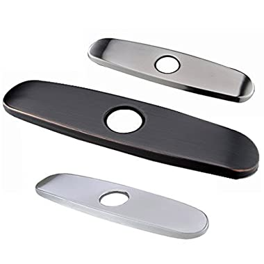 Ufaucet Stainless Steel Oil Rubbed Bronze Black Bathroom Kitchen Sink Faucet Hole Cover Deck Plate Escutcheon, Kitchen Faucet Deck Plate 9 Inch