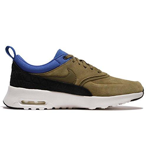 Nike Mujeres W Air Max Thea Prm Lth, Verde / Negro / Azul Verde / Negro / Azul
