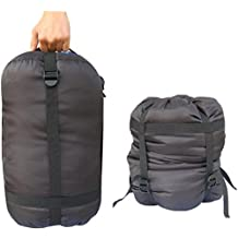 BlueField Lightweight Compression Nylon Stuff Sack Bag Outdoor Camping Black Color Lager Size